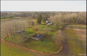 Aerial photo of Marcel Tardif's woodturning studio_Sumac Hill Creations